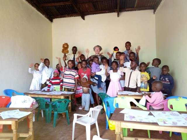 We eventually had 25 children for our first Sunday School Class.